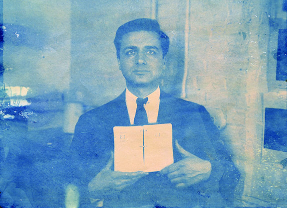 An early test Polaroid of Edwin Land.