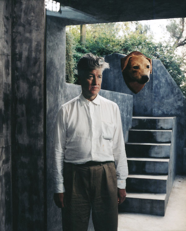 """ I like dog heads."" David Lynch, photographed for Entertainment Weekly."