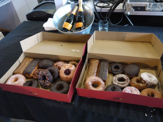 Donuts and champagne, that's how the roll here in the northwest.