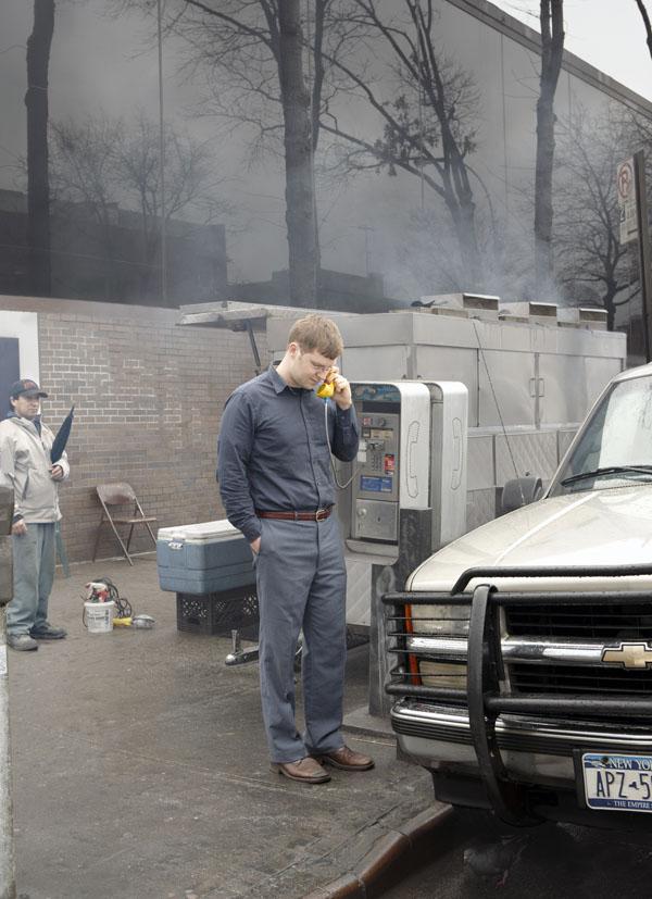 Peter Horn, going Old School, in Queens, NY.