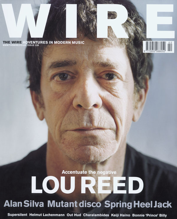 Lou Reed, Accentuate The Negative, indeed.