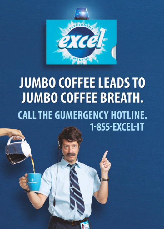 Wrigley's Excel - it's a Gumergency! Shot with BBDO Toronto.