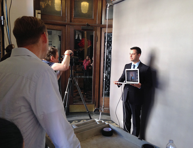Shooting with Jimmy Kimmel for Variety. Photo by Shelley Lovelace.